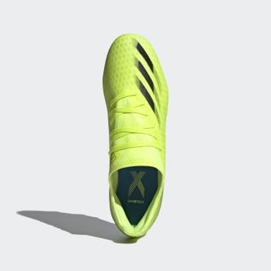 Men Football Yellow X Ghosted.3 Firm Ground Boots