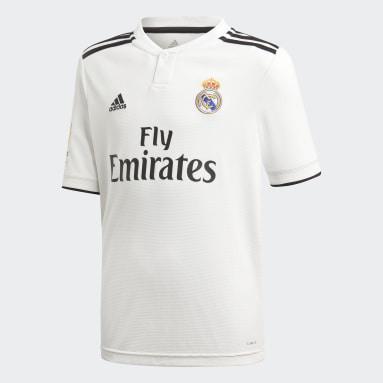 Camiseta primera equipación Real Madrid Réplica Blanco Niño Fútbol