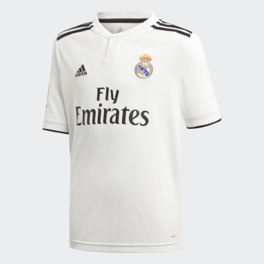 Youth 8-16 Years Football White Real Madrid Home Jersey
