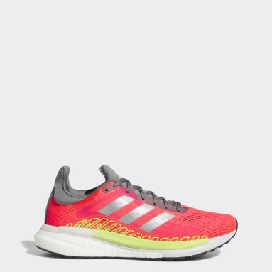 Women's Running Pink SolarGlide 3 ST Shoes