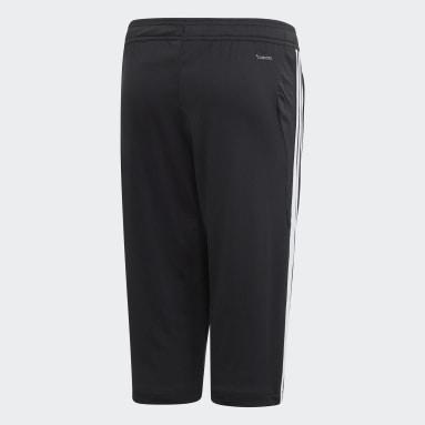 Youth Soccer Black Tiro 19 3/4 Pants