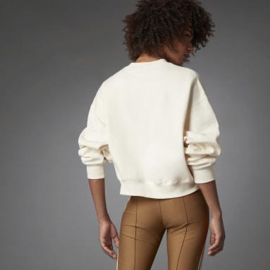 Fashion Essentials Batwing Crew Sweatshirt Bialy