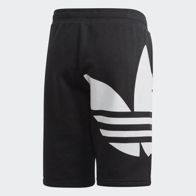เด็ก Originals สีดำ กางเกงขาสั้น Big Trefoil