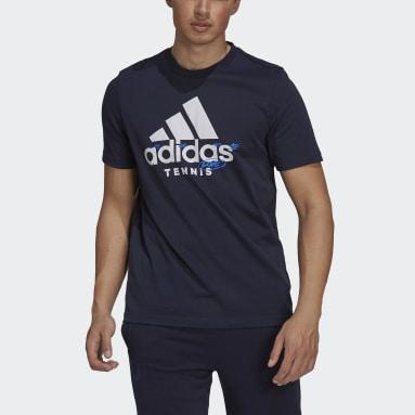 Mænd Tennis Blå Tennis Graphic Logo T-shirt