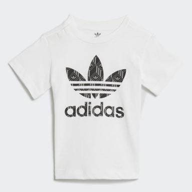 Conjunto pantalón corto y camiseta Blanco Niño Originals