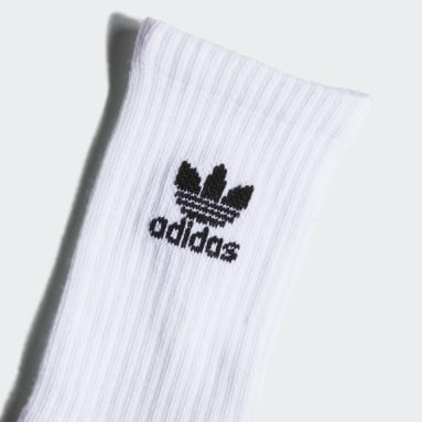 Youth Originals White Trefoil Crew Socks 6 Pairs