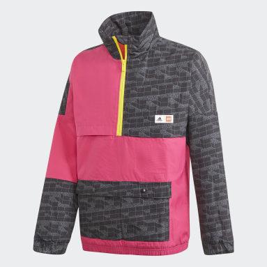 Kids Lifestyle Burgundy adidas x Classic LEGO® Bricks Half-Zip Warm Jacket