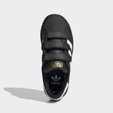 Kids 4-8 Years Originals Black Superstar Shoes