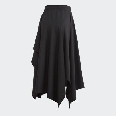 Women Y-3 Black Y-3 Craft 3-Stripes Skirt