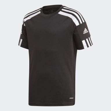 Jongens Voetbal Zwart Squadra 21 Voetbalshirt