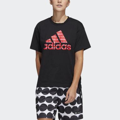 Basketball Sort Marimekko kønsneutral T-shirt