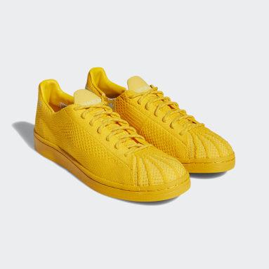 Sapatos Primeknit Superstar Pharrell Williams Dourado Originals