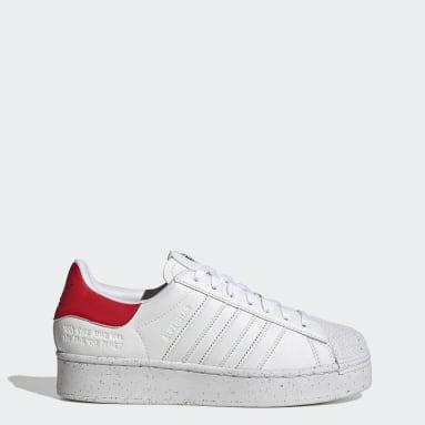 Women Originals White Superstar Bold Shoes