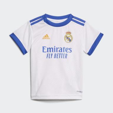 Conjunto de bebé Uniforme Local Real Madrid 21/22 Blanco Niño Fútbol
