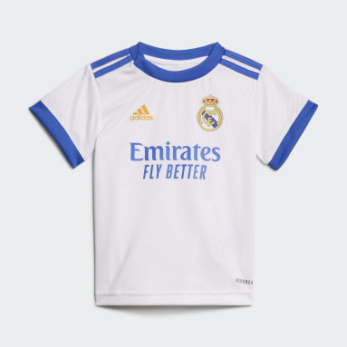 Divisa Baby 21/22 Home Real Madrid Bianco Bambini Calcio