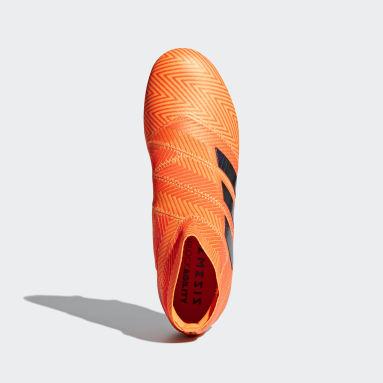 Calzado de Fútbol Nemeziz 18+ Terreno Firme Naranja Hombre Fútbol