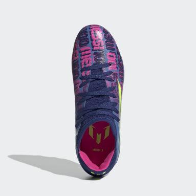 Kids Football Blue X Speedflow Messi.3 Multiground Boots