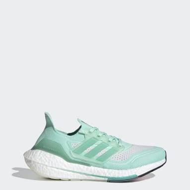 Women Running Turquoise Ultraboost 21 Shoes