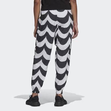 Pantalon de survêtement tissé Marimekko Cuffed Noir Femmes Originals