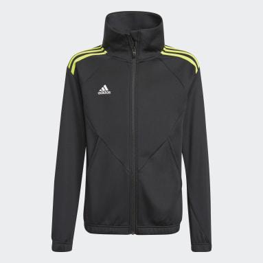 Boys Gym & Training Black Predator Football-Inspired Track Jacket