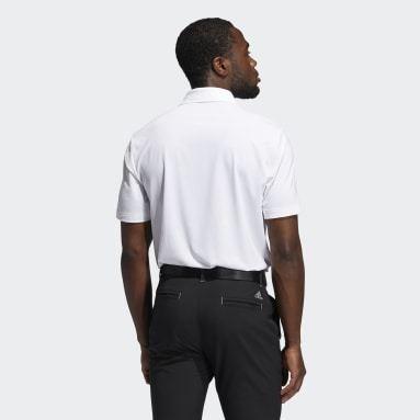 Men Golf White Ultimate365 Solid Left Chest Polo Shirt