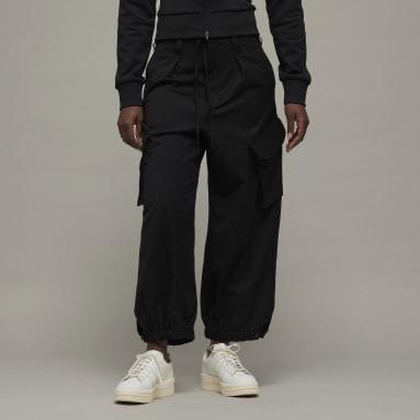 Women Y-3 Black Y-3 Classic Refined Wool Stretch Cargo Trousers