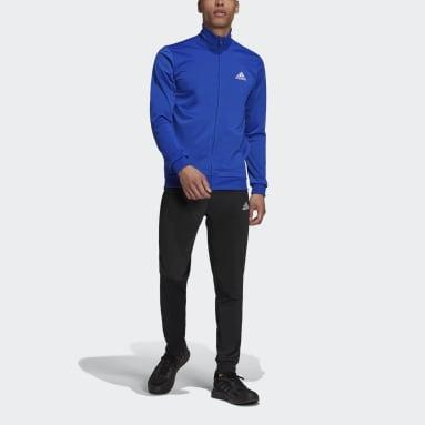 Men's Essentials Blue Primegreen Essentials Small Logo Track Suit