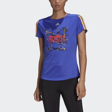 T-shirt Berlin Marathon Event Blu Donna Running