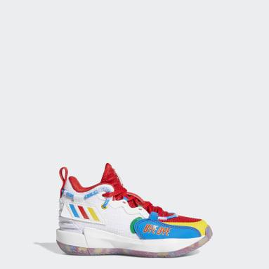 Kinder Basketball adidas Dame ExtPly 7 x LEGO Basketballschuh Weiß