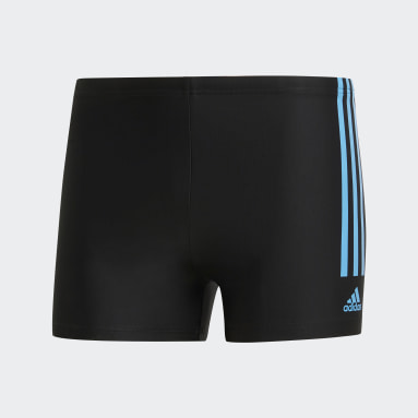 Men Swimming Black Semi 3-Stripes Swim Briefs