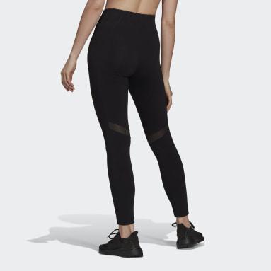 черный Леггинсы с сетчатыми вставками adidas Sportswear