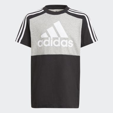 Camiseta adidas Essentials Colorblock Gris Niño Sportswear