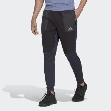 черный Брюки для бега adidas COLD.RDY
