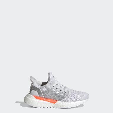 Children Running Grey Ultraboost 20 Shoes