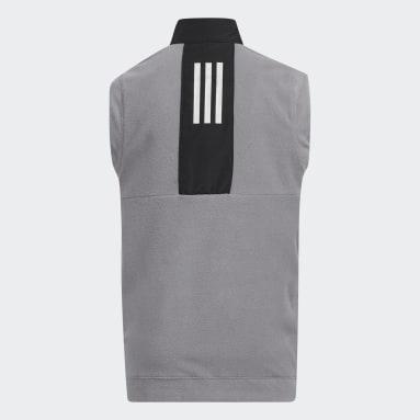 Kids Golf Black Fleece Primegreen Vest