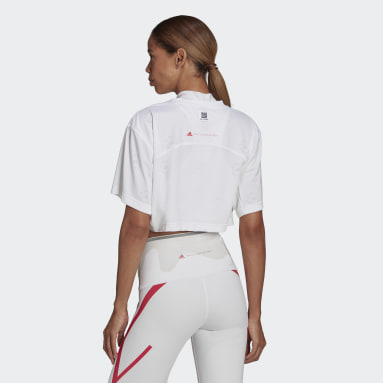 Crop top adidas by Stella McCartney Made To Be Remade blanc Femmes adidas by Stella McCartney