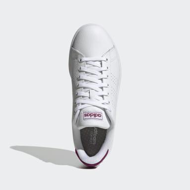 Women's Sport Inspired White Advantage Shoes
