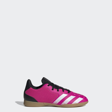 Boys Football Pink Predator Freak.4 Sala Indoor Boots