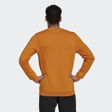 Men's sport_inspired Orange Essentials Fleece 3-Stripes Sweatshirt