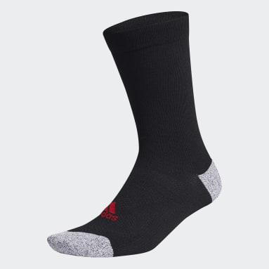 Men Golf Black Tour Crew Socks