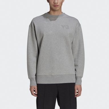 Men's Y-3 Grey Y-3 Classic Chest Logo Crew Sweatshirt