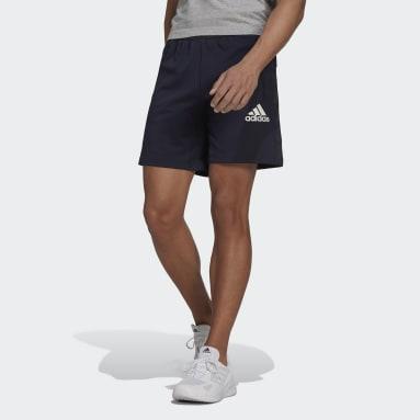 ผู้ชาย เทรนนิง สีน้ำเงิน กางเกงขาสั้น AEROREADY Designed to Move Sport Motion Logo