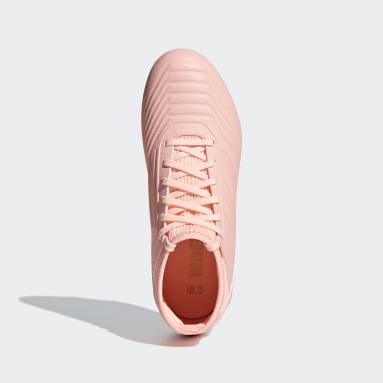 Calzado de fútbol Predator 18.3 Terreno Firme Rosa Niño Fútbol