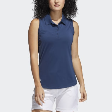 Polo sin mangas Ultimate365 Solid Azul Mujer Golf