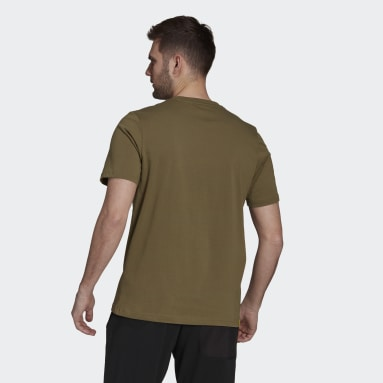 Men TERREX Green Terrex Patch Mountain Graphic T-Shirt