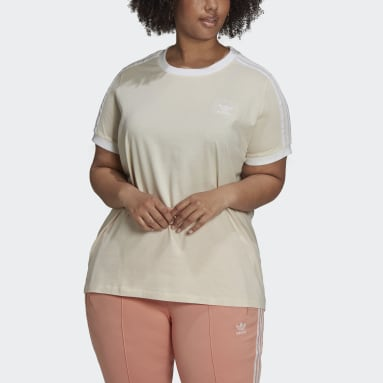 Women's Originals White Adicolor Classics 3-Stripes Tee (Plus Size)