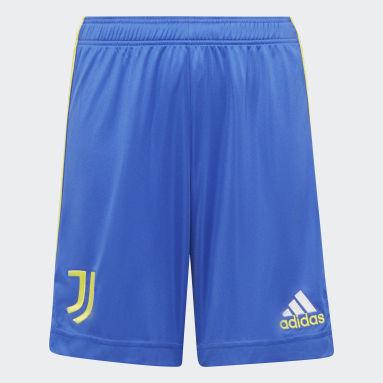 Kinder Fußball Juventus Turin 21/22 Ausweichshorts Blau