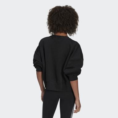 Women Originals Black Adicolor Essentials Fleece Sweatshirt
