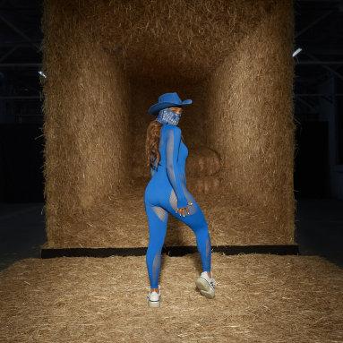Women Originals Blue Mesh Catsuit