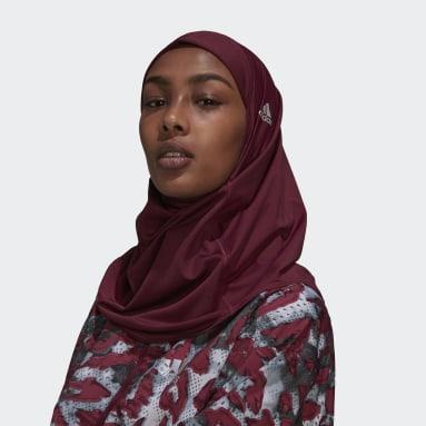 Women Trail Running Red Sport Hijab